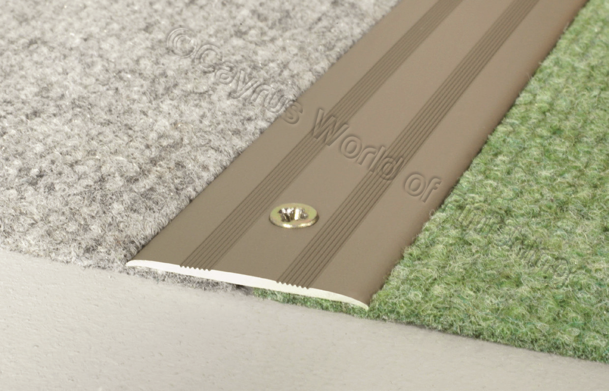 Flat anodised aluminium door floor bar trim threshold 35mm for Door threshold