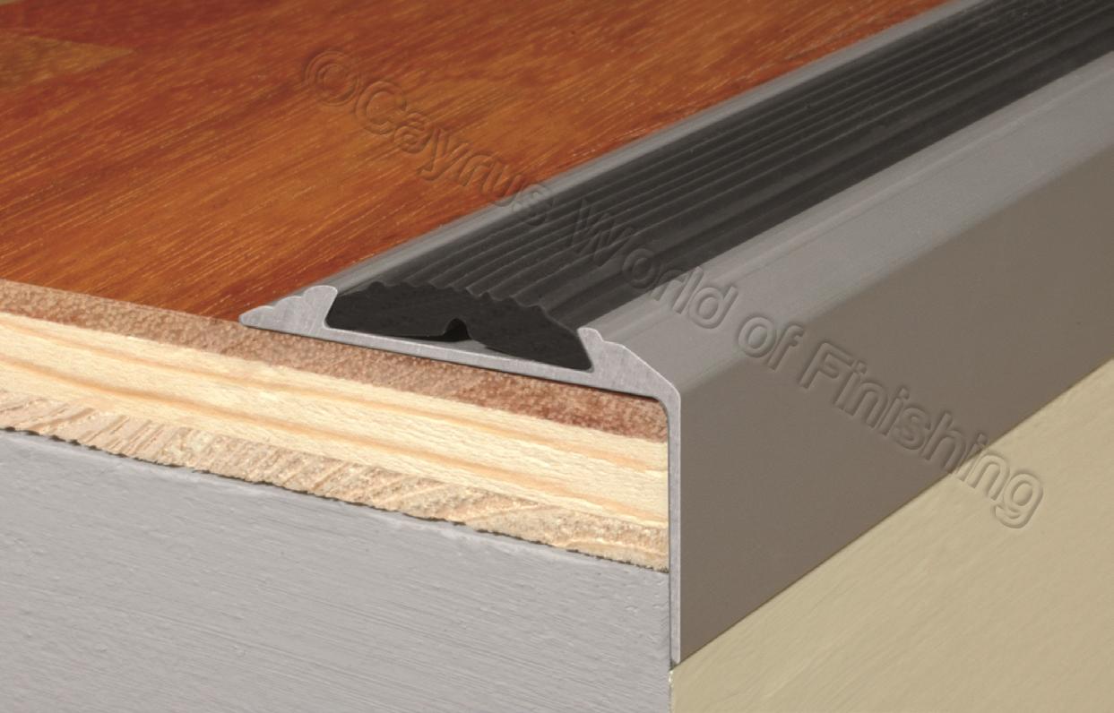 Aluminium stair nosing edge trim step nose edging nosings for Laminate floor trim