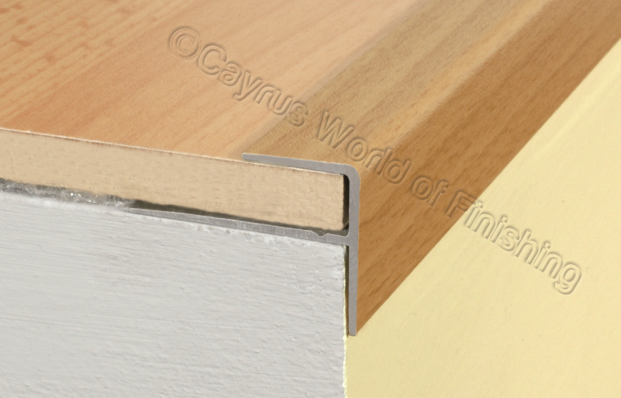 Aluminium Wood Effect Stair Edge Nosing Trim Step Nose